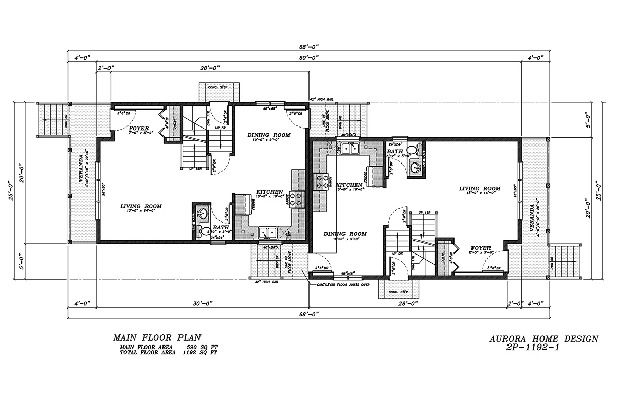 Acreage Bungalow with open ceilings. | Edmonton Aurora Home Design Plan