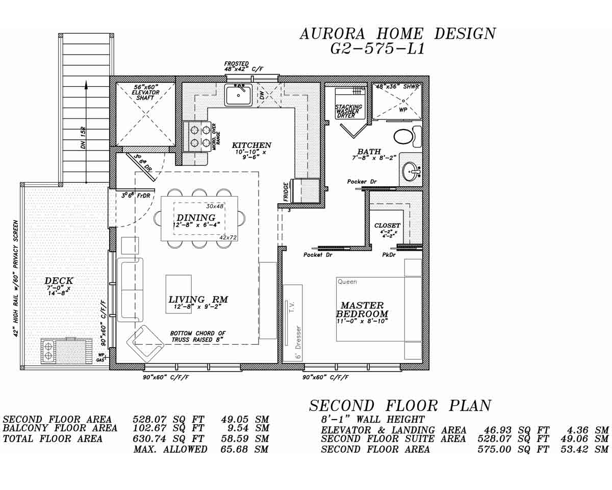 Garage Suite with 1 Bedroom w/Elevator | Aurora Home Designs Edmonton Alberta
