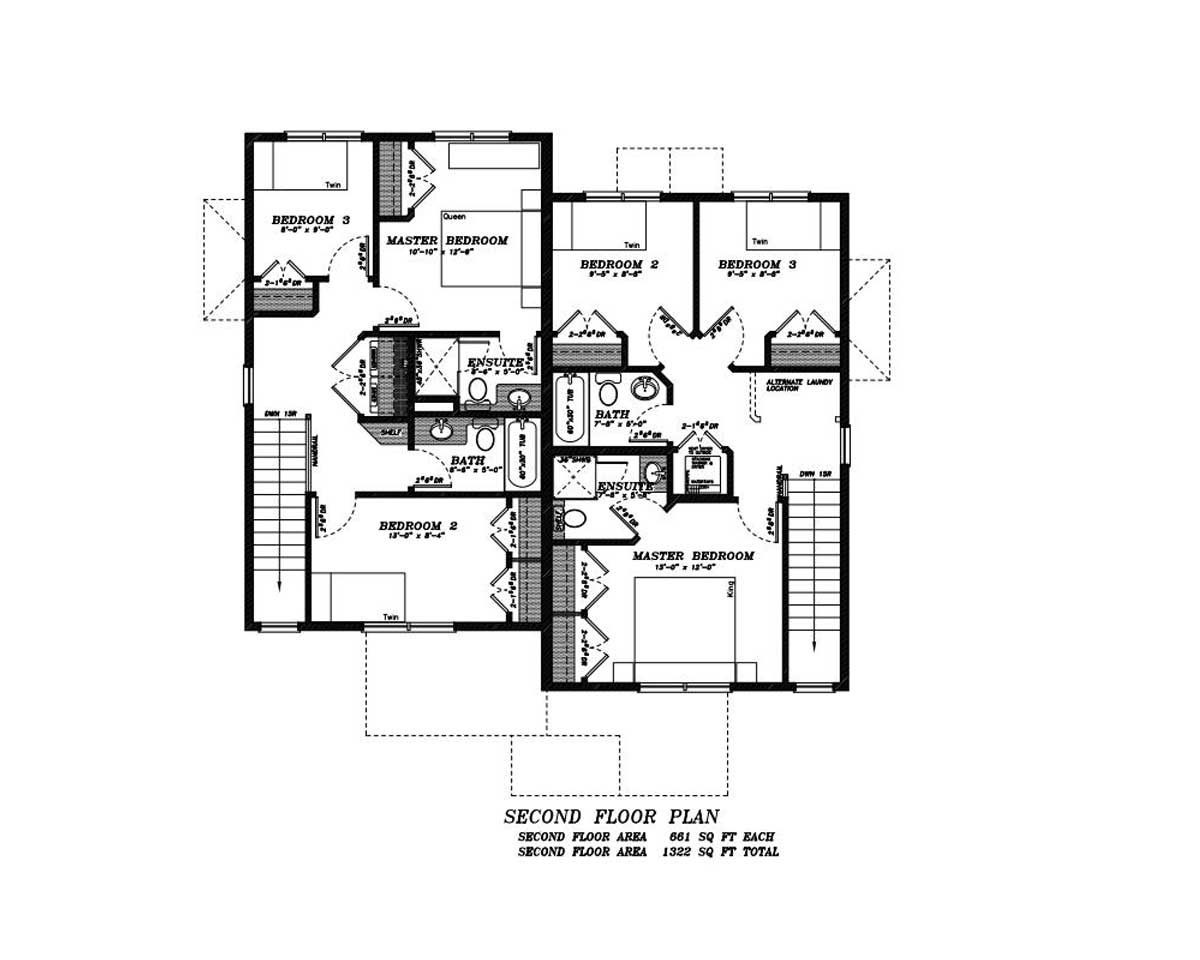 Asymetrical Duplex in Westmount | Edmonton Aurora Home Design Plan