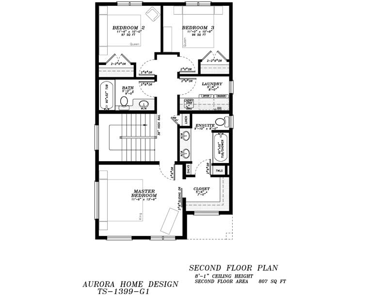 2 Storey with 3 Bedroom | Aurora Home Designs Edmonton