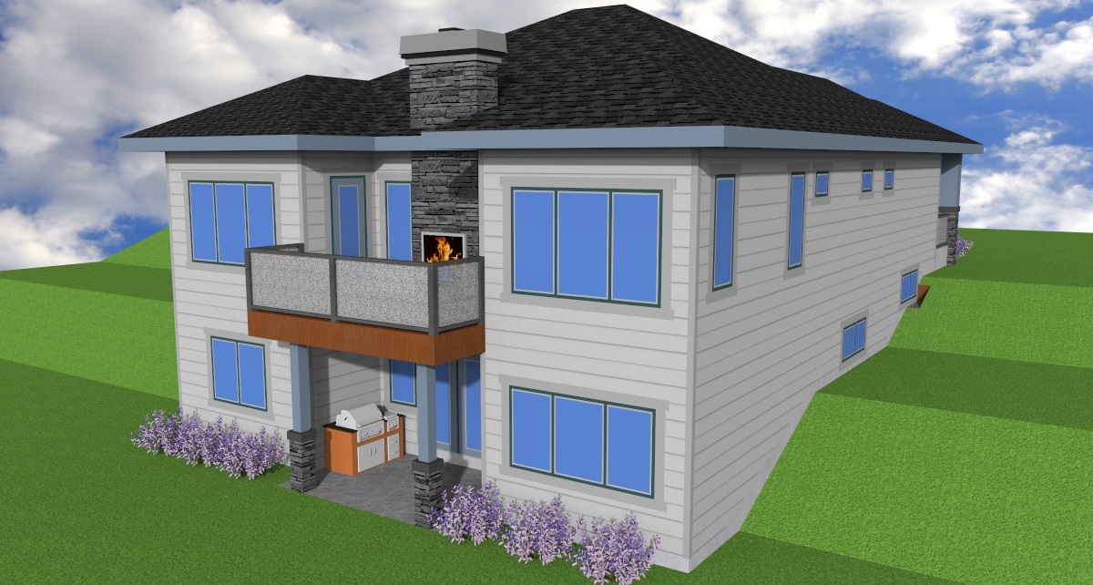 Executive Walk-out Bungalow. | Edmonton Aurora Home Design Plan