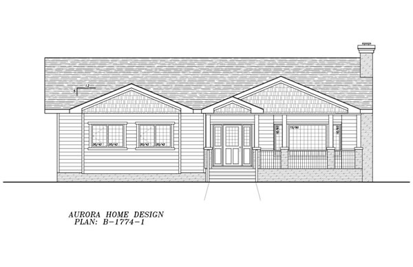 Great Family Bungalow for an acreage. | Edmonton Aurora Home Design Plan