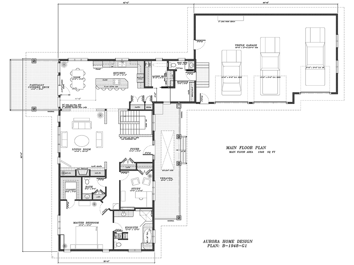Bungalow Open floor Plan | Aurora Home Designs Edmonton