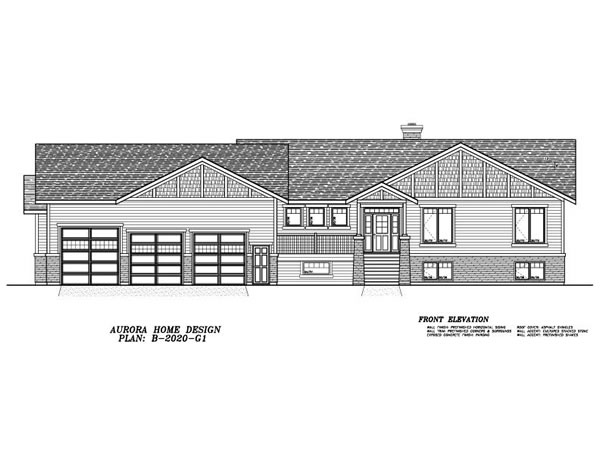 Spacious 4 Bedroom Acreage Bungalow. | Edmonton Aurora Home Design Plan