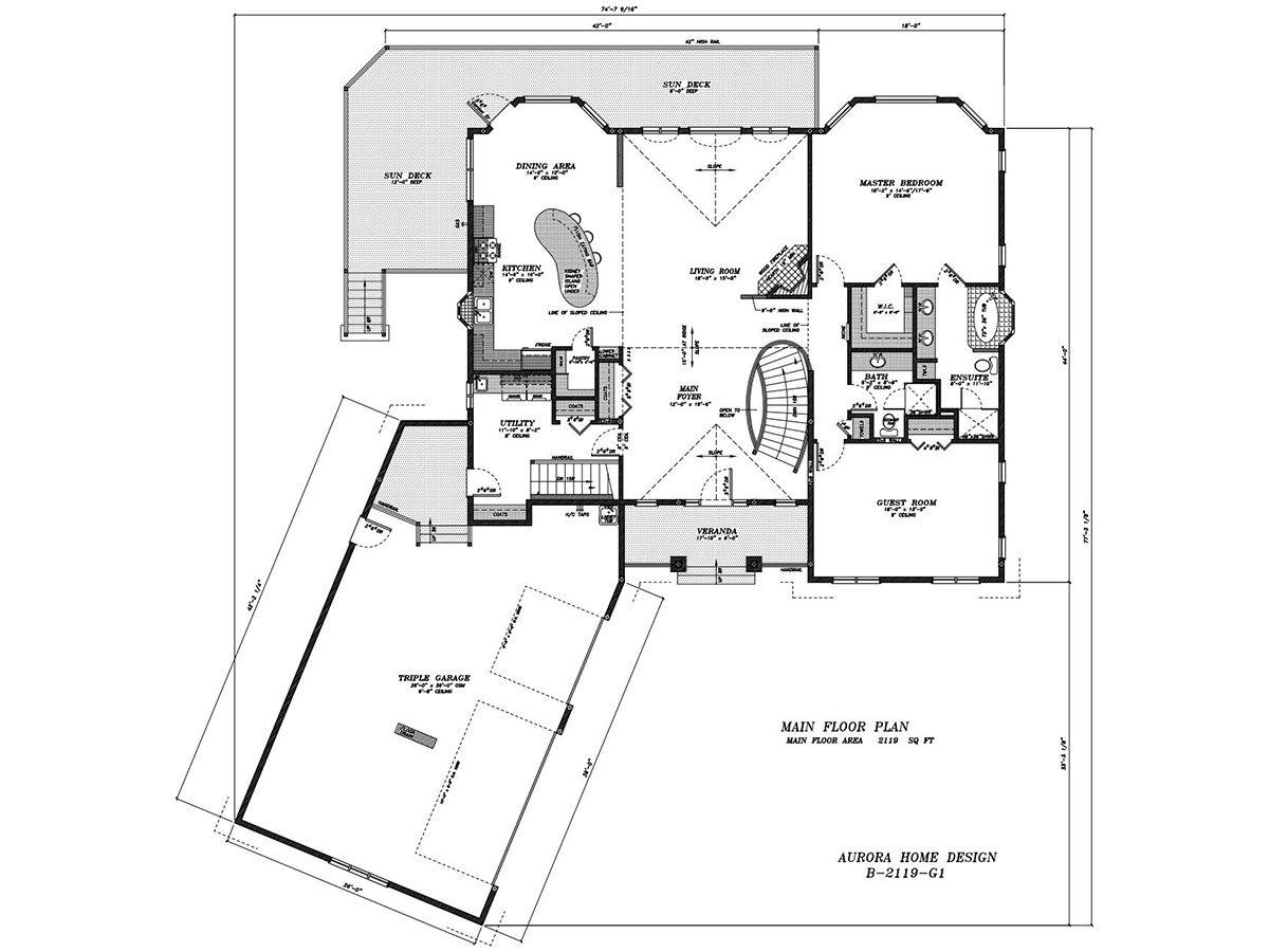Estate Bungalow. | Edmonton Aurora Home Design Plan
