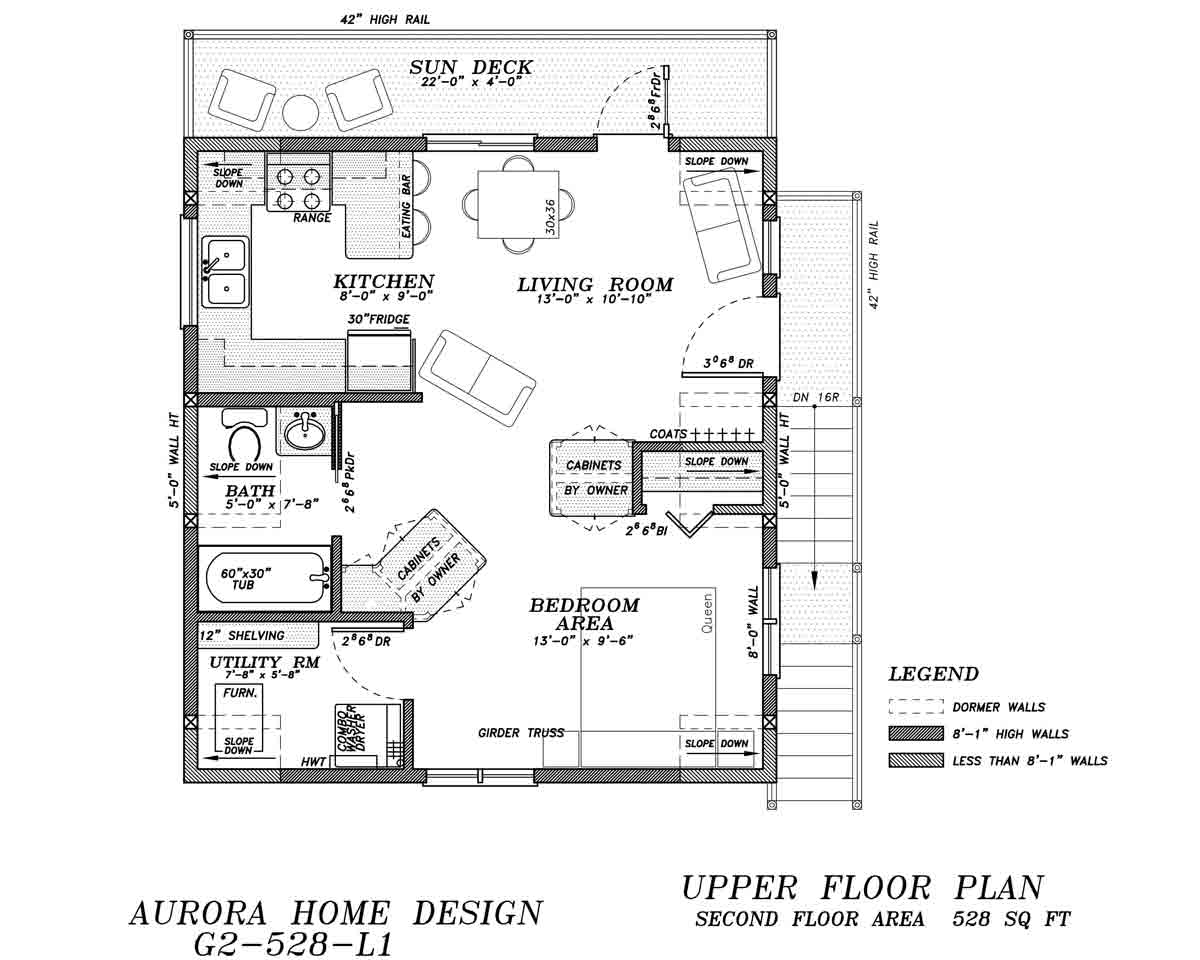 22' Wide Garage Suite | Edmonton Aurora Home Design Plan