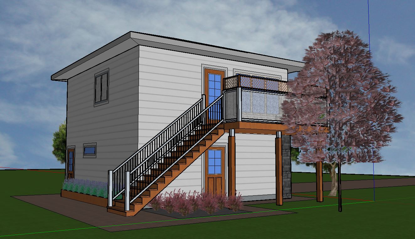 Garage Suite With 1 Bedroom W/Elevator   Aurora Home Designs Edmonton  Alberta