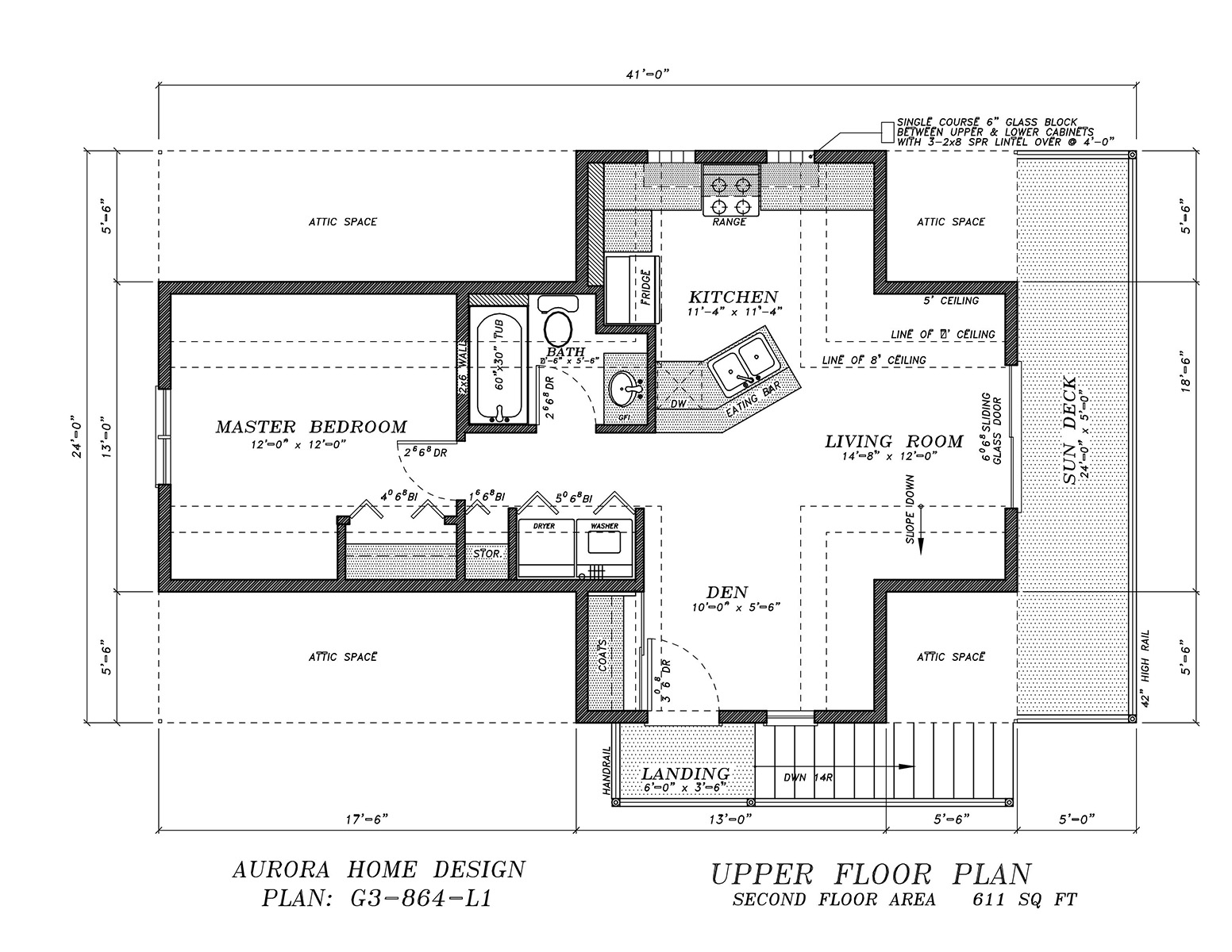 Loft with 1 bedroom suite over 3 garage. | Edmonton Aurora Home Design Plan