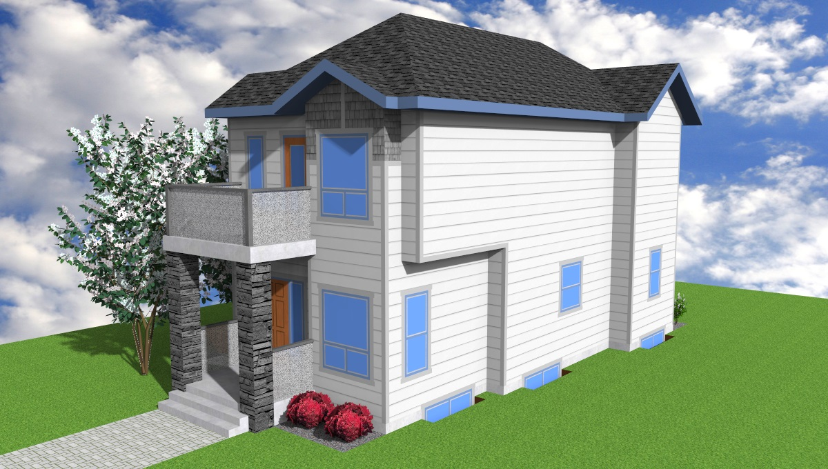 Wide Skinny 2 Storey with 3 Bedroom | Aurora Home Designs Edmonton