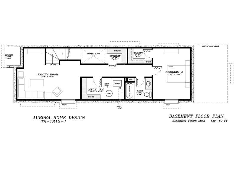 17' Wide Skinny 2 Storey - 1817 sq ft - 3 Bedroom | Aurora Home Designs Edmonton