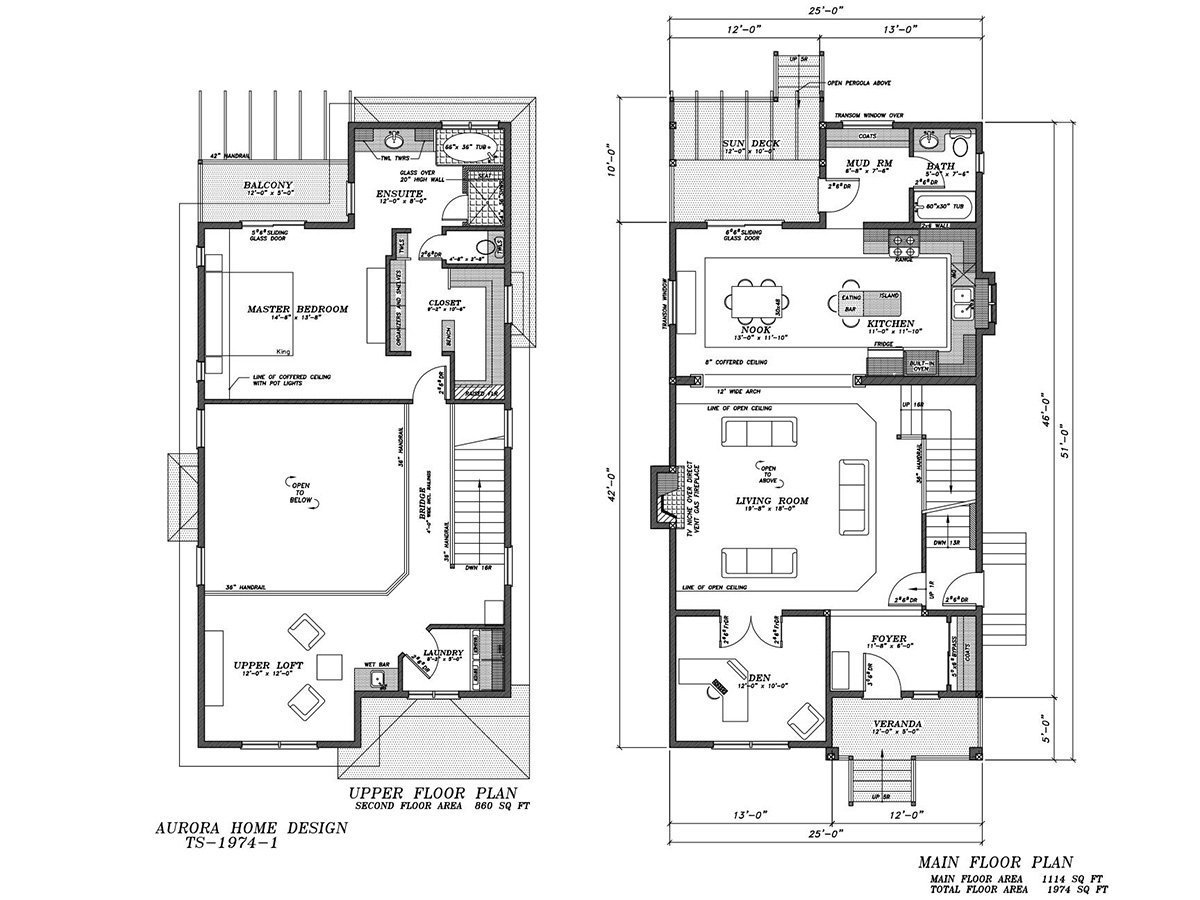 Infill 2 Storey with Great Features. | Edmonton Aurora Home Design Plan