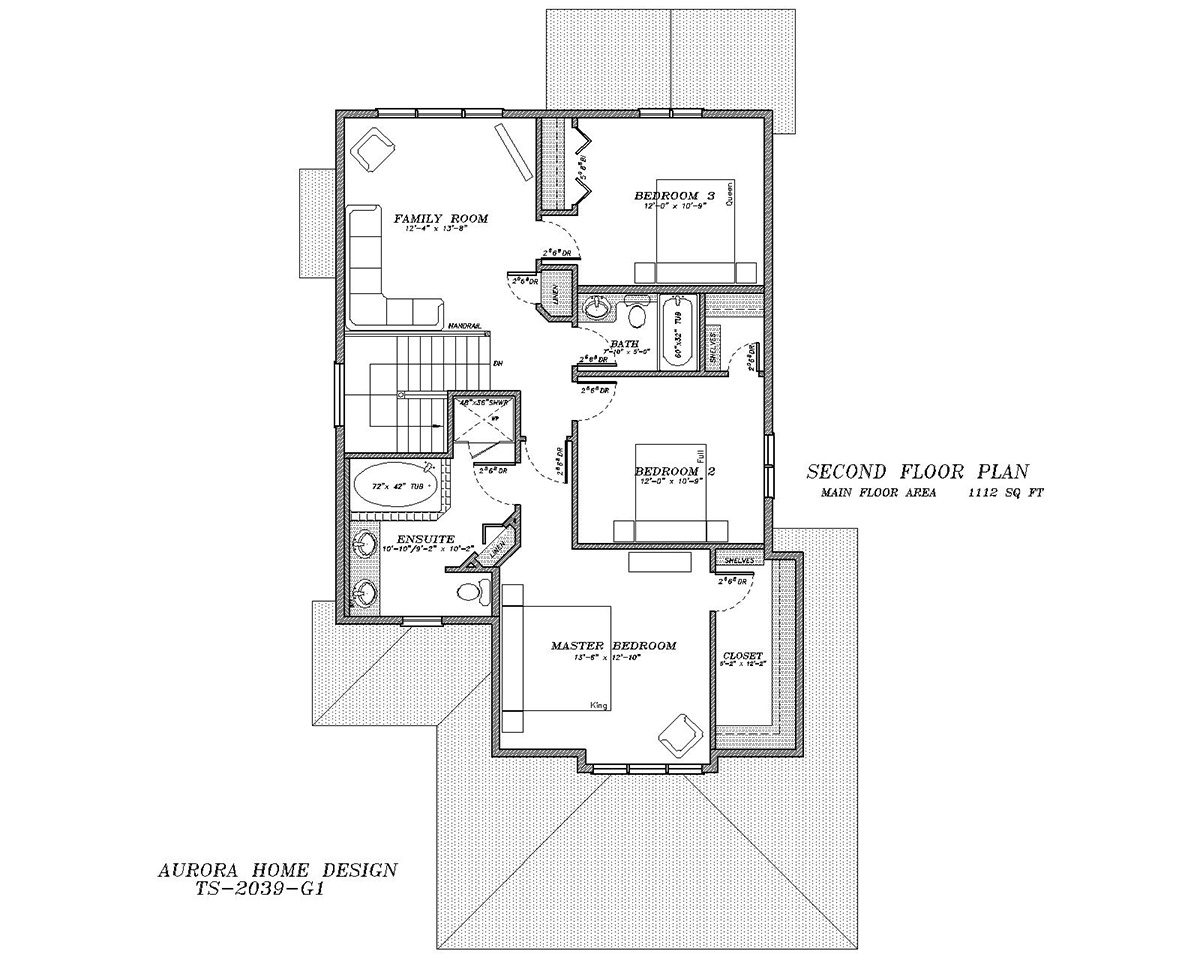 2nd storey family room. | Edmonton Aurora Home Design Plan