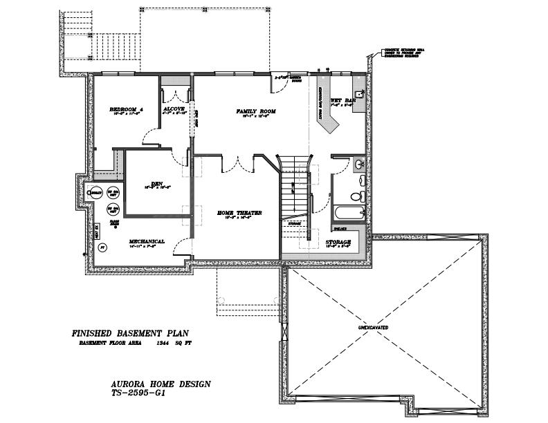 Acreage 2 Storey for walk-out site. | Edmonton Aurora Home Design Plan