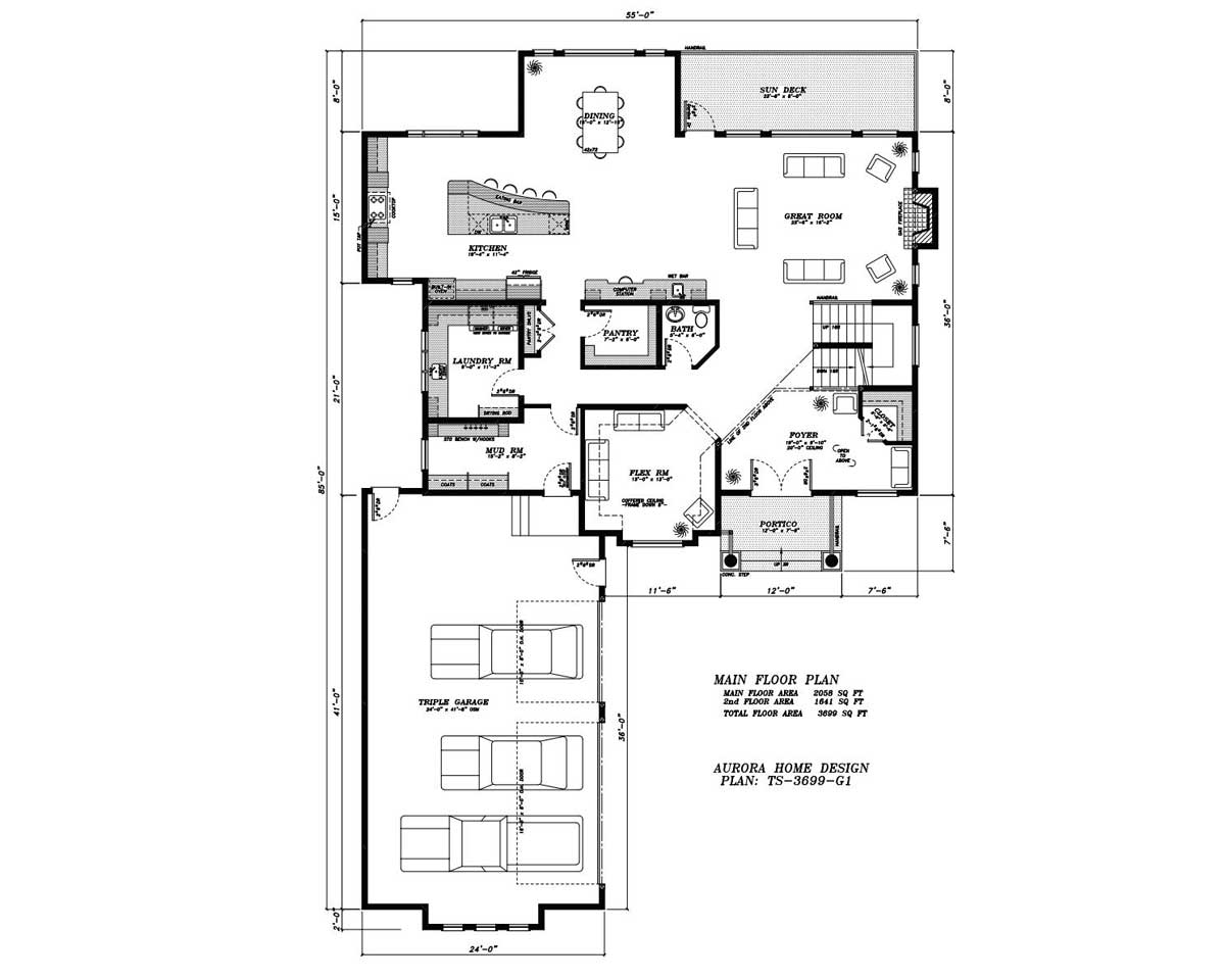 Estate open plan 2 Storey | Edmonton Aurora Home Design Plan