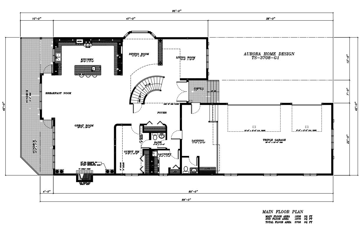 Executive Walk-out 2 Storey with 4 Bedrooms. | Edmonton Aurora Home Design Plan