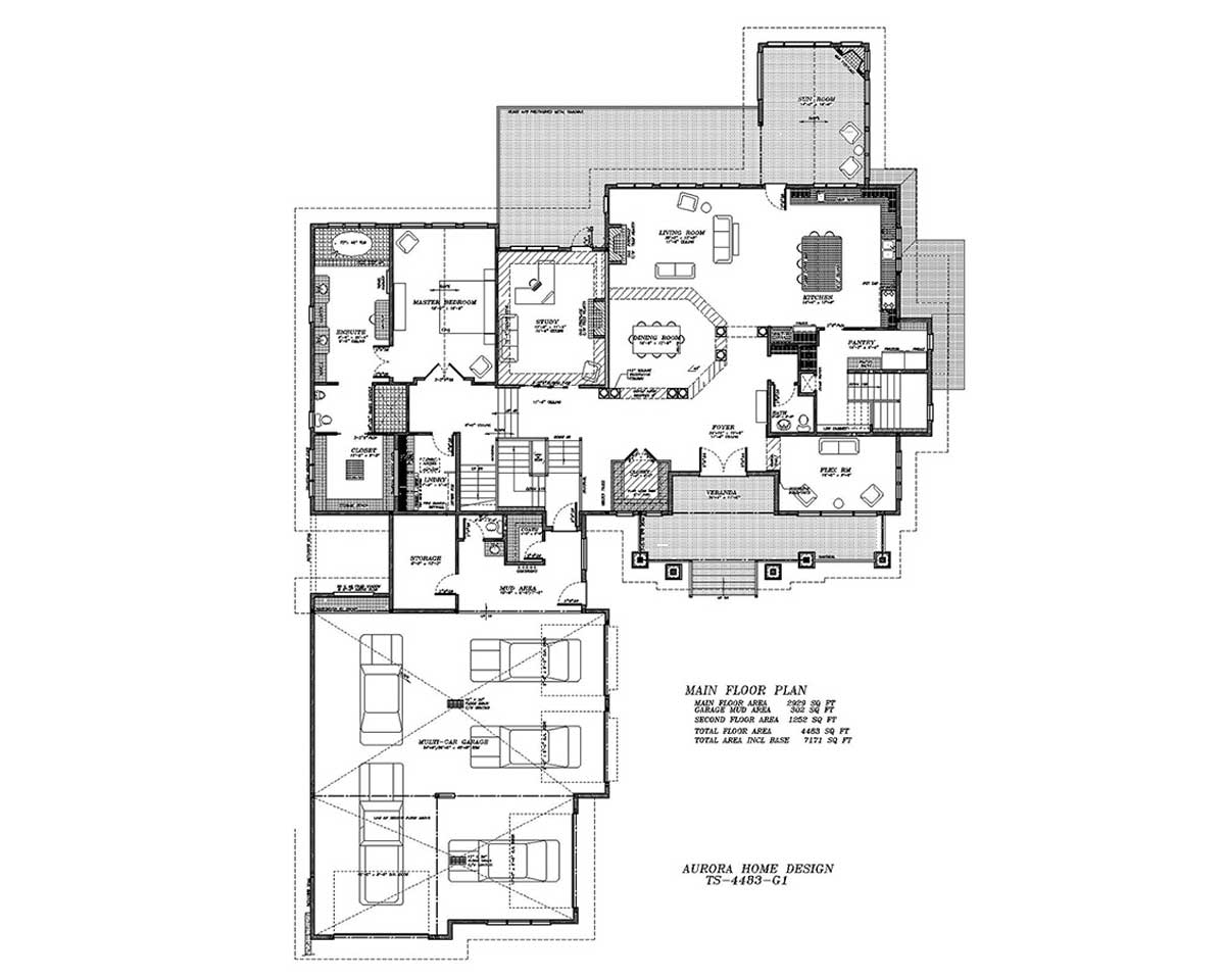 Executive Acreage Home | Edmonton Aurora Home Design Plan
